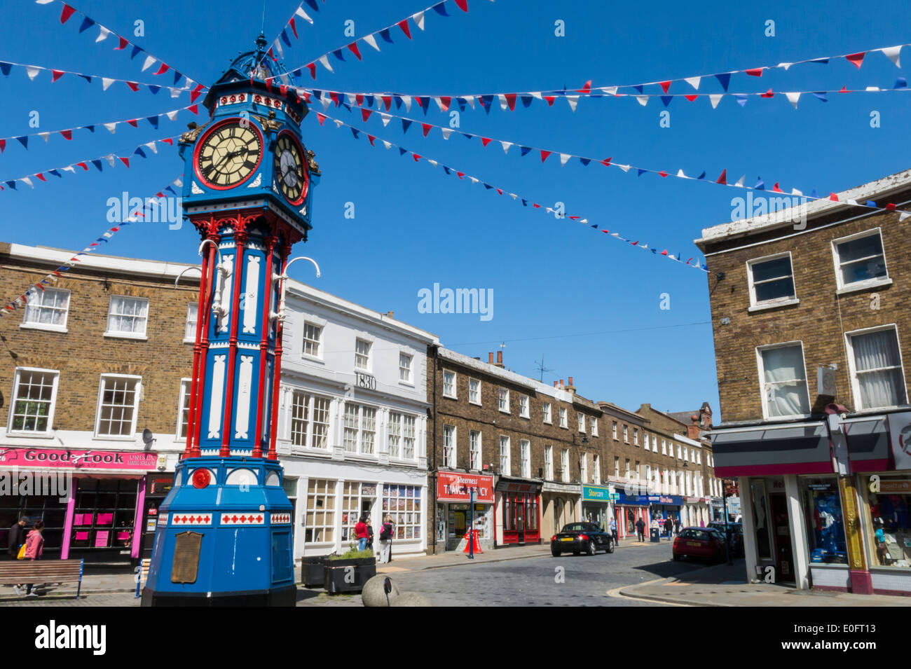 Ghisa Torre dell Orologio Sheerness Isle of Sheppey Kent Immagini Stock