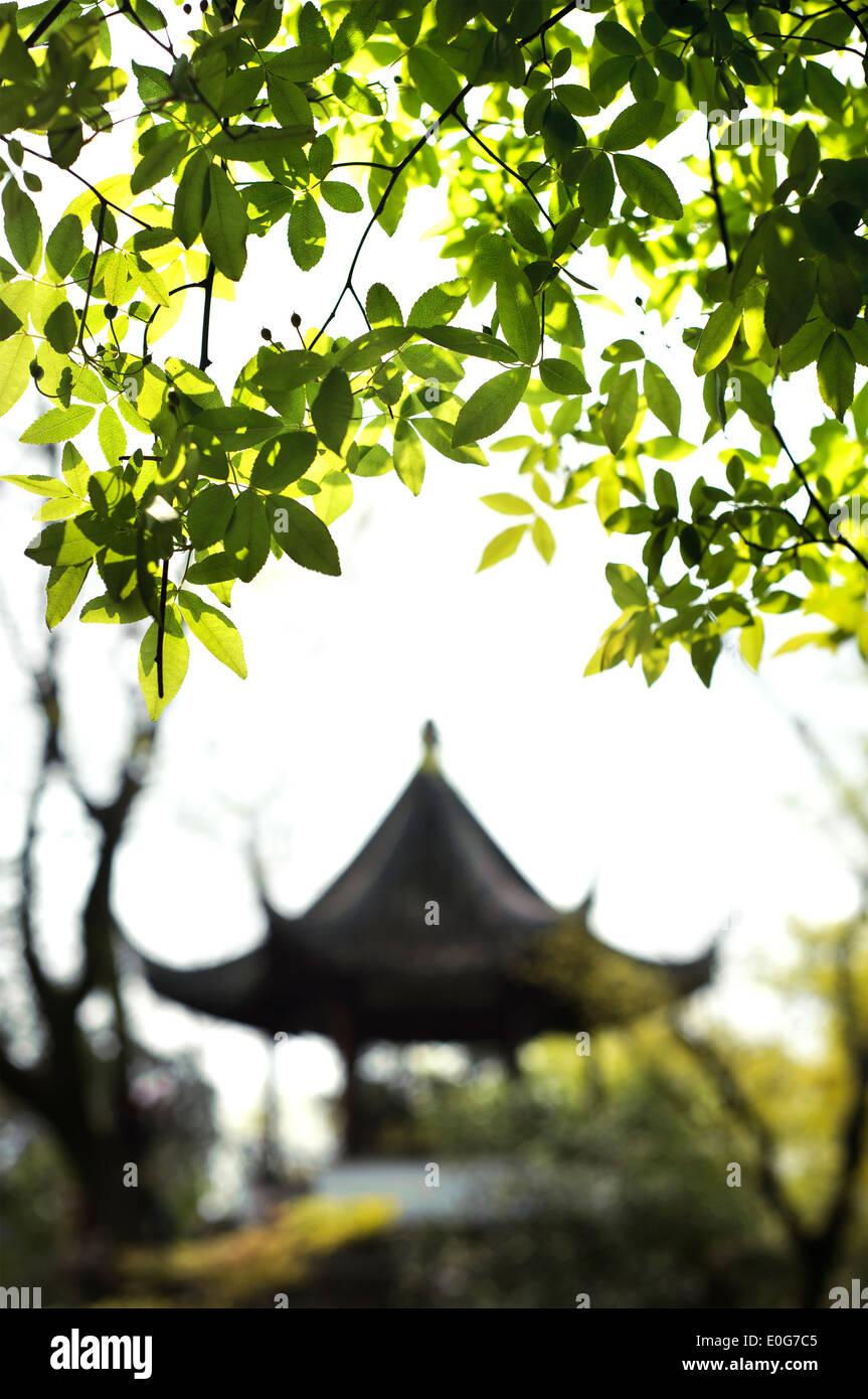 Il padiglione del giardino dell'umile Amministratore, Suzhou, Cina Immagini Stock