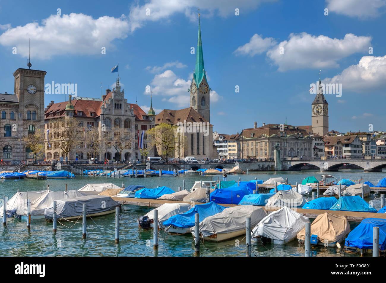 Zurigo, città vecchia, Svizzera Immagini Stock