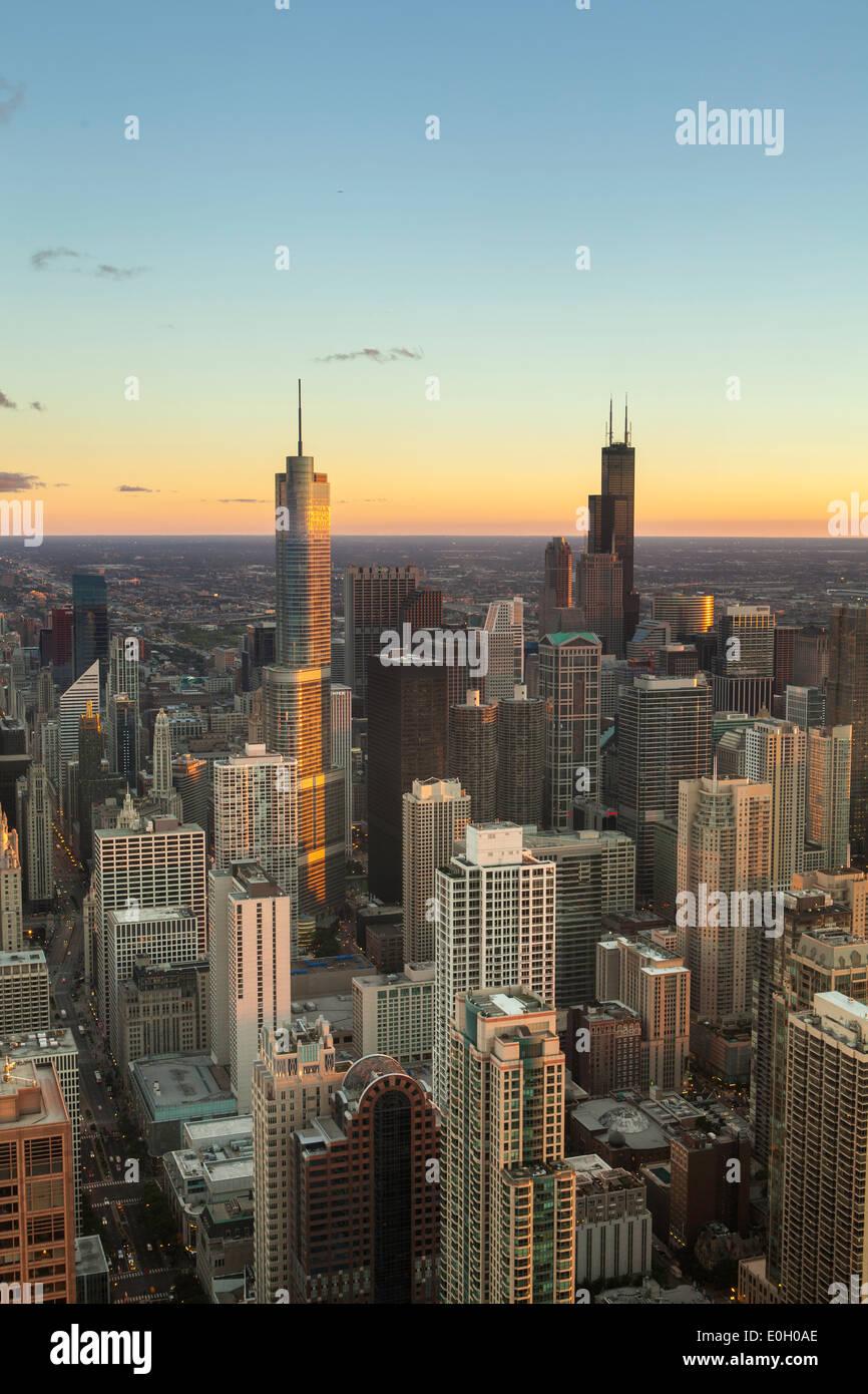Chicago, Illinois, Stati Uniti d'America, downtown skyline della città Foto Stock