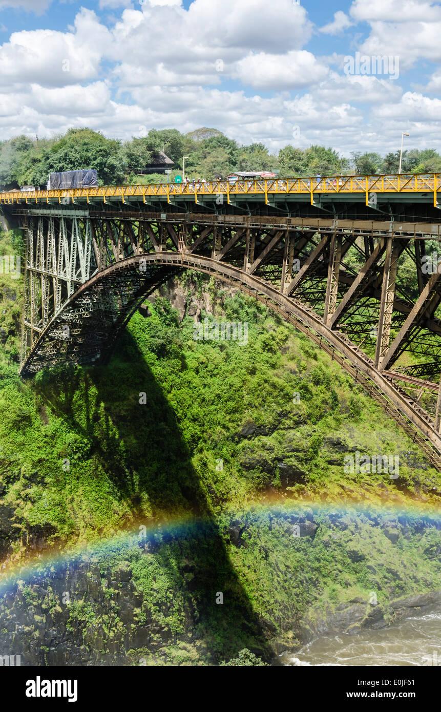Victoria Falls nello Zimbabwe Immagini Stock