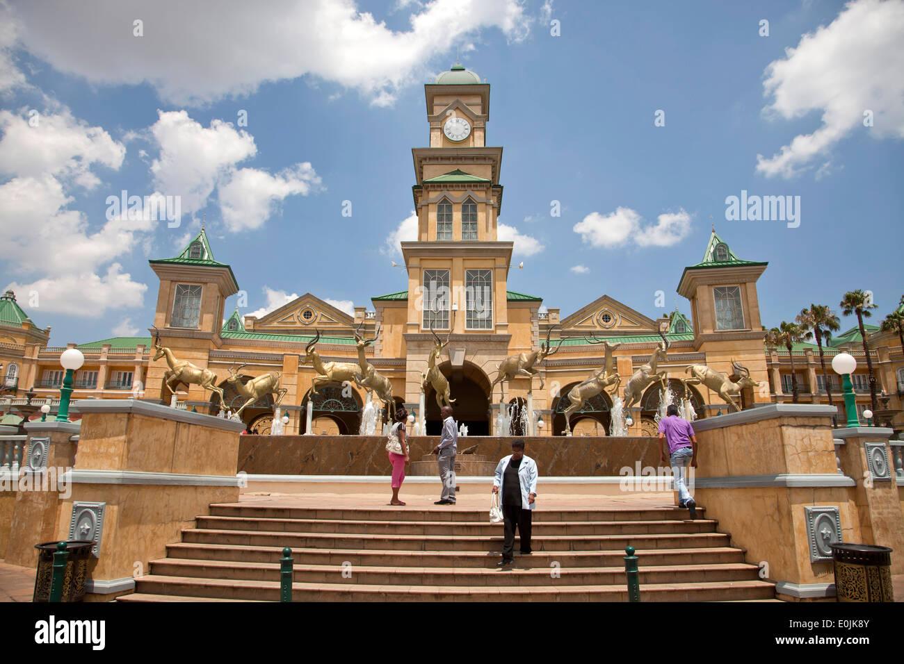 Gold Reef City Casino e Hotel a Johannesburg Gauteng, Sud Africa e Africa Immagini Stock