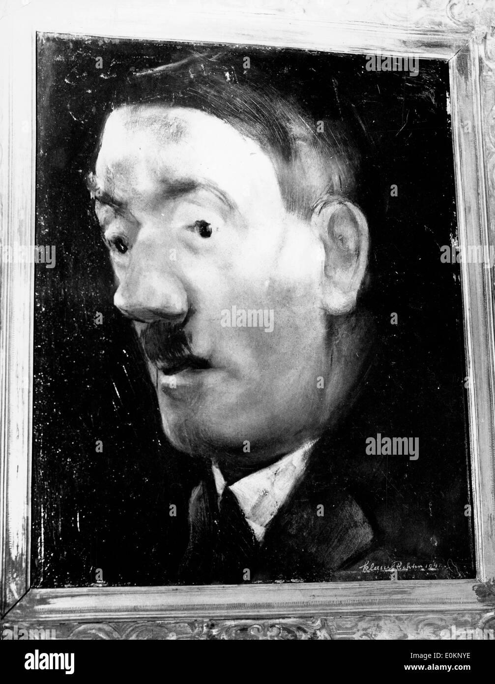 Dipinto ad Olio di Adolf Hitler Immagini Stock