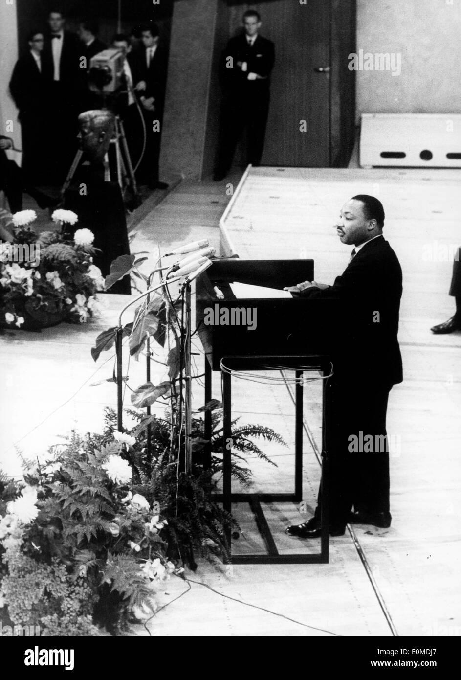 Martin Luther King Jr. parlando a Berlino Foto Stock