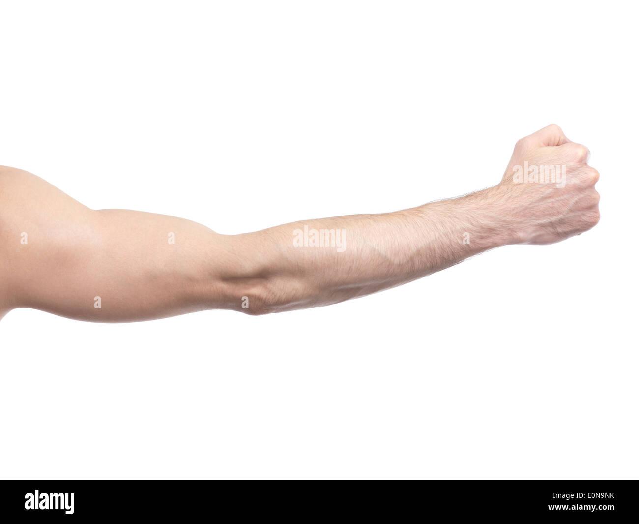 uomo pugno singolo