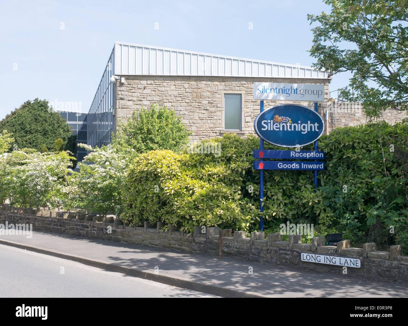 Biancheria da letto Silentnight fabbrica in barnoldswick, Lancashire, Regno Unito Immagini Stock