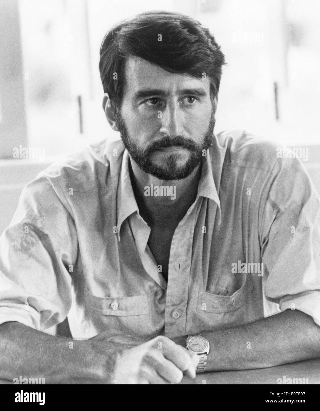 "Sam Waterston, sul set del film ""L'Killing Fields"", 1984 Immagini Stock"