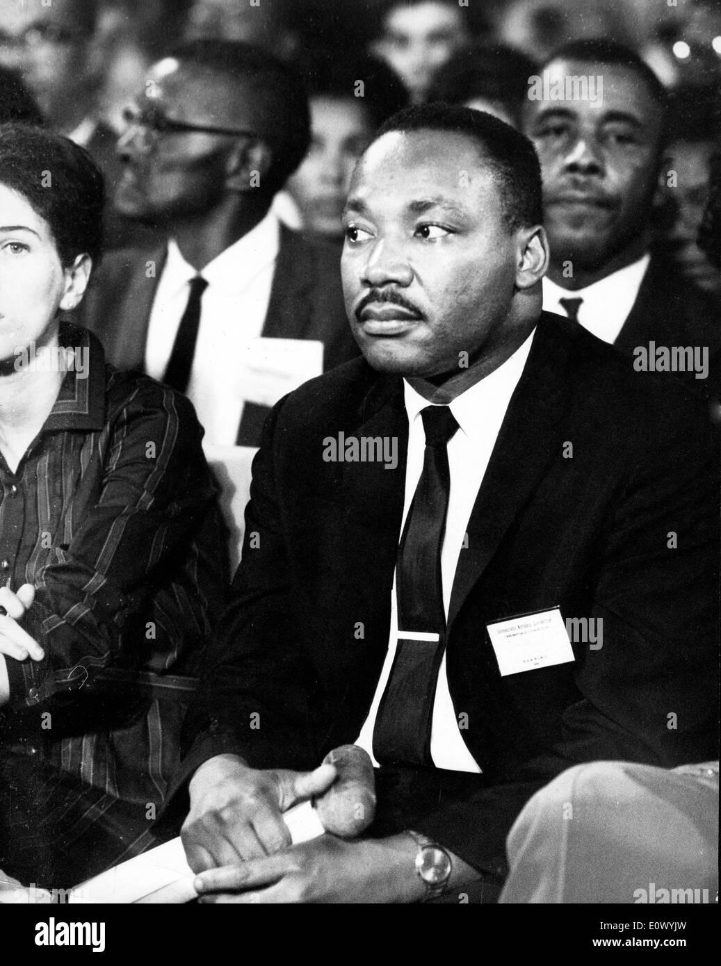 Martin Luther King Jr. presso il National Convention democratica Foto Stock