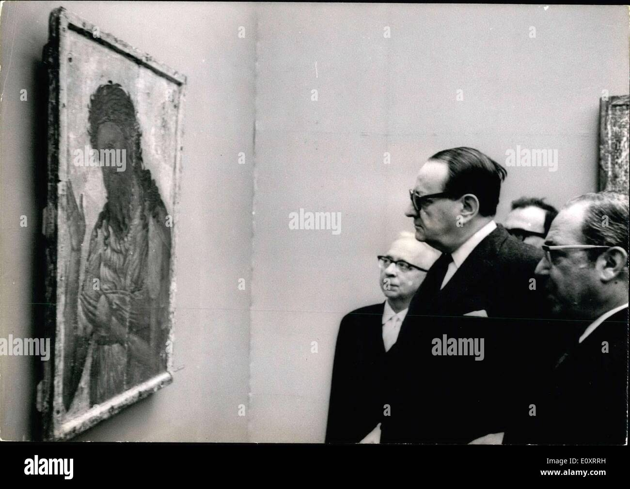Nov. 07, 1967 - Malraux presso il Museo di Arti Decorative Immagini Stock