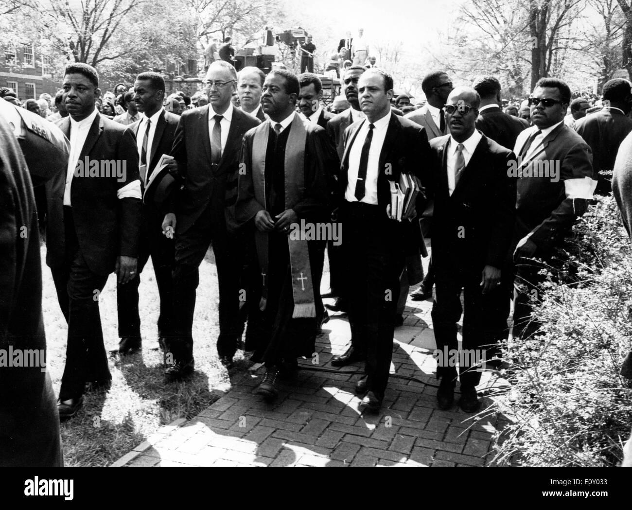 Esequie del reverendo Martin Luther King Jr. Foto Stock