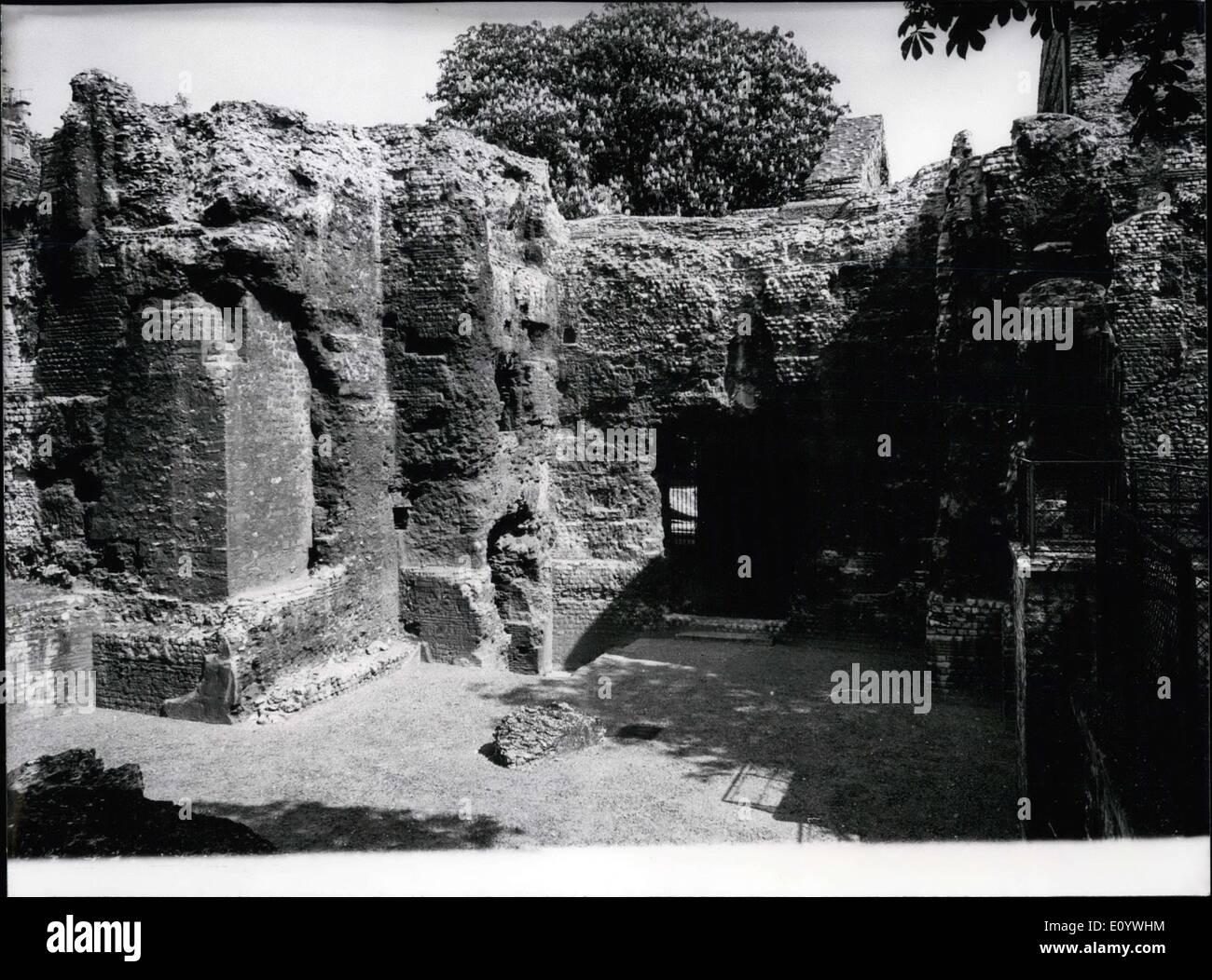 Agosto 05, 1971 - Giardini Home Medioevo trovato Paris Hotel de Cluny 1685 Immagini Stock