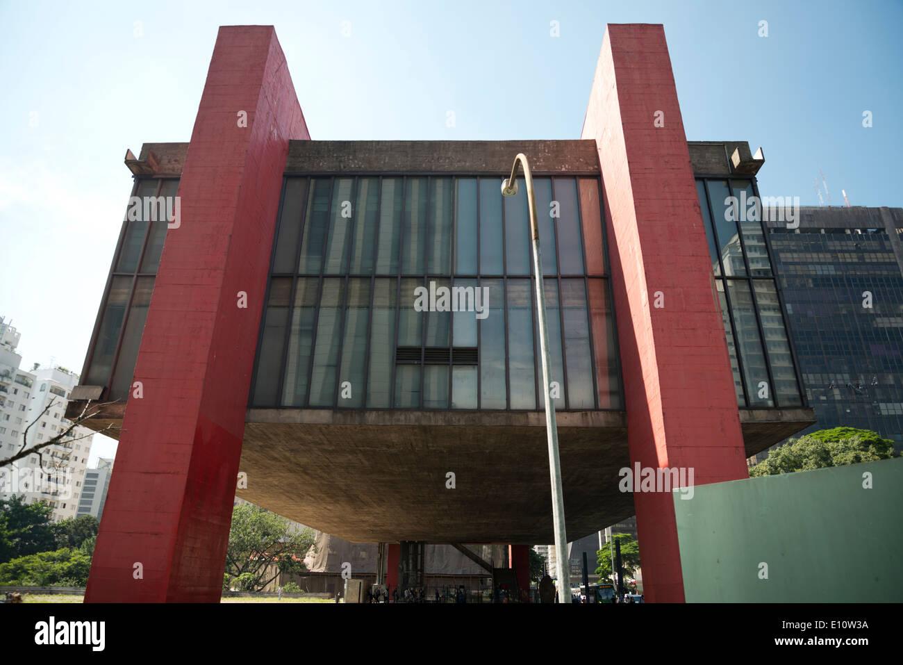 Il Sao Paulo Museum of Art, MASP. Immagini Stock