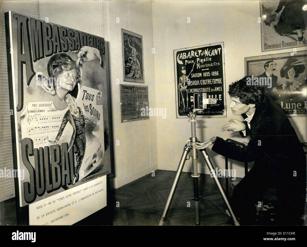 Gen 19, 1977 - Arti Decorative mostra a Parigi Immagini Stock