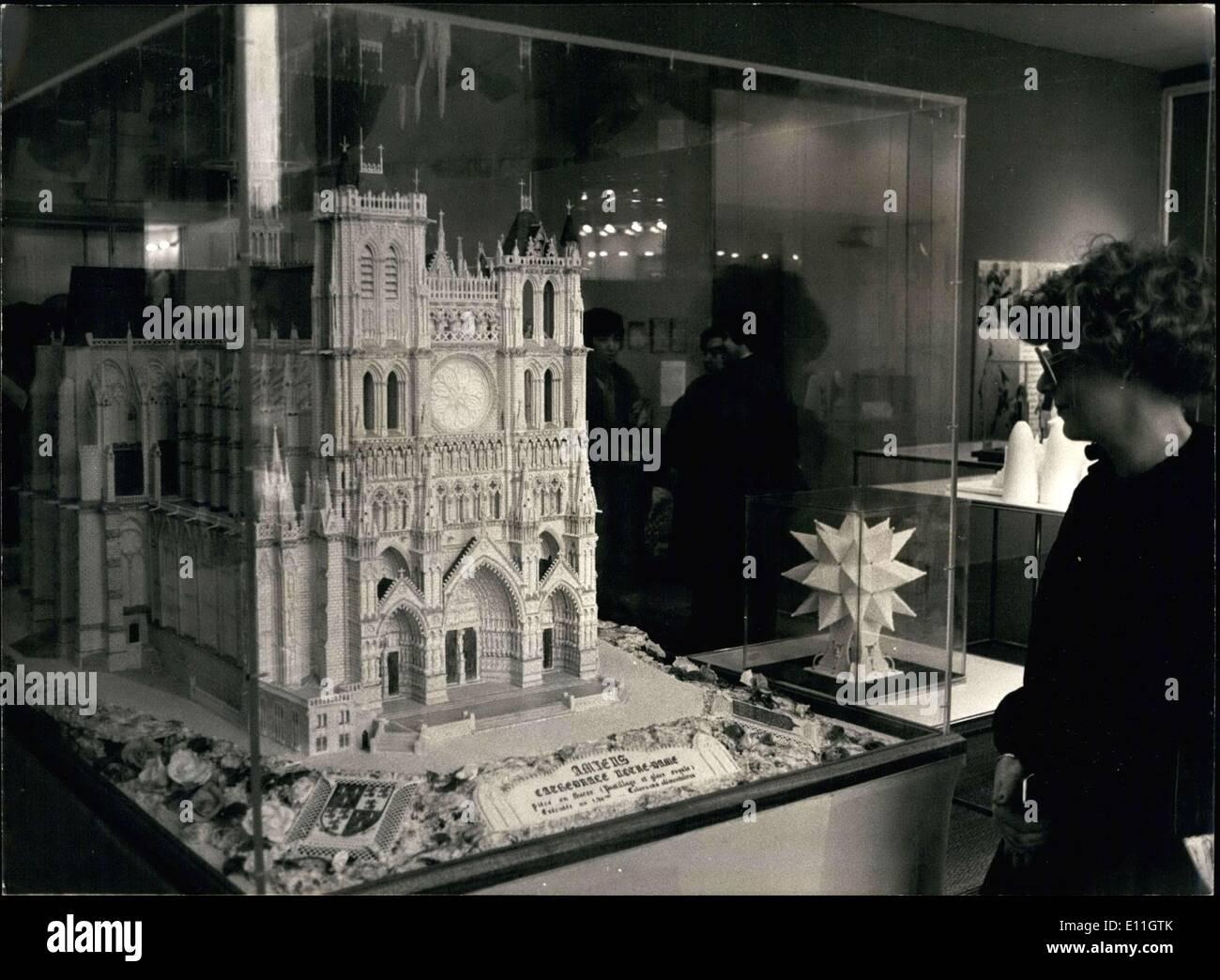 """Febbraio 08, 1978 - è in mostra presso il Museo di Arti Decorative a Parigi dove un'esposizione intitolata """" """" zucchero d'Arte"""" è in corso. Immagini Stock"""