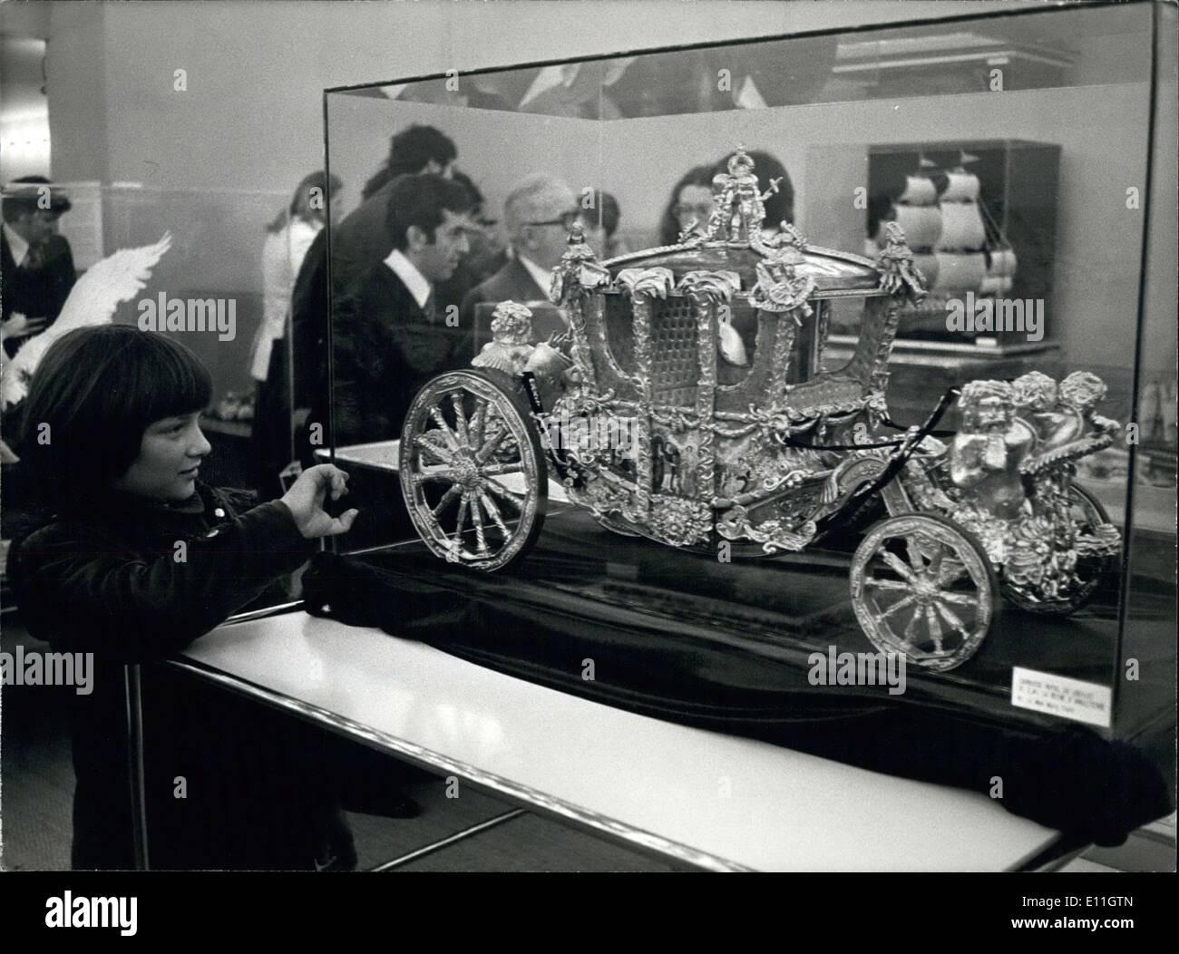 Febbraio 08, 1978 - Museo delle Arti decorative di Parigi,modello royal coach sul display Immagini Stock