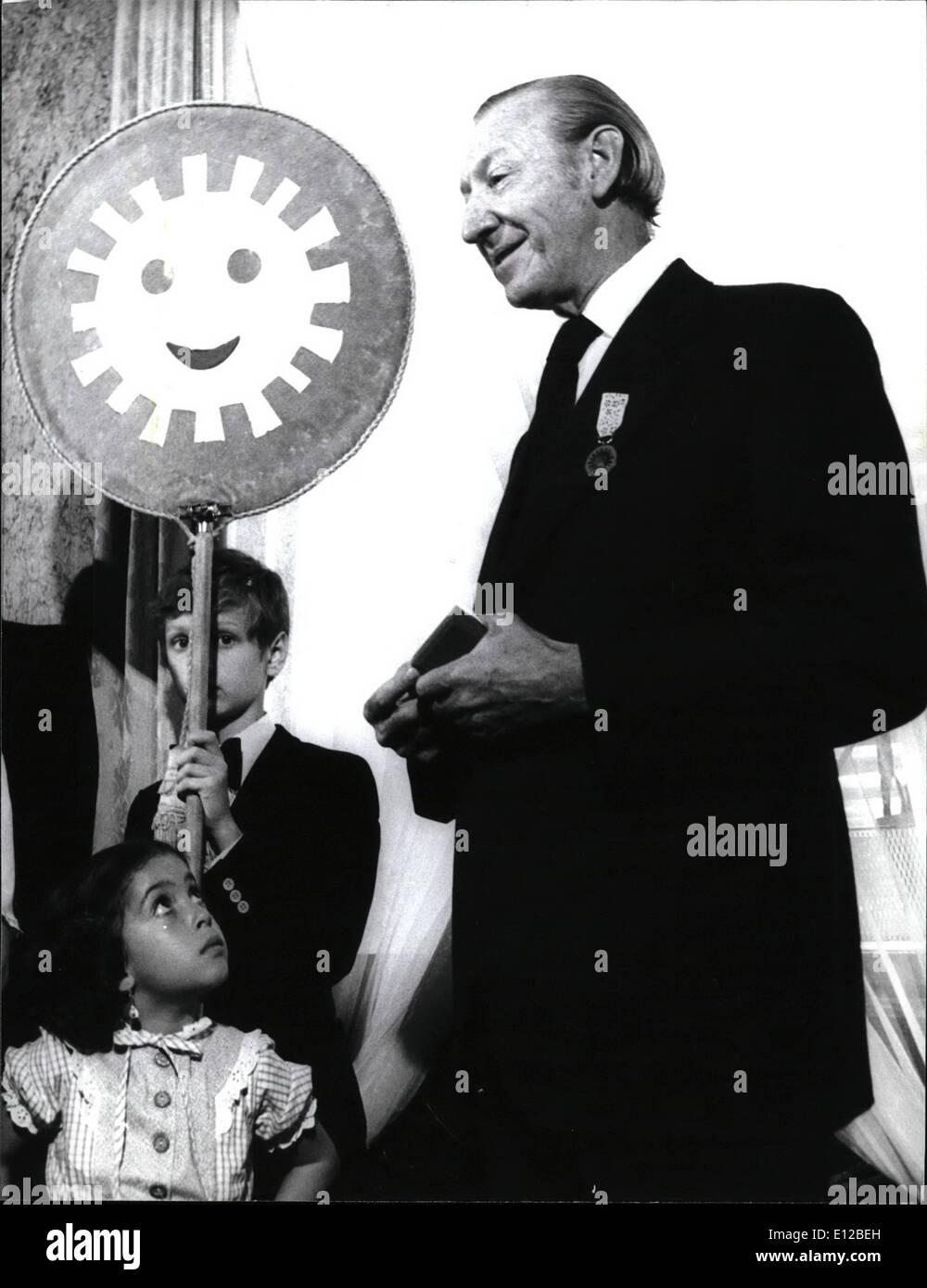 Dic. 09, 2011 - La storia della medaglia inizia nel 1968. polacco medaglia del sorriso è unico in tutto il mondo proposta e premiato da bambini. Immagini Stock