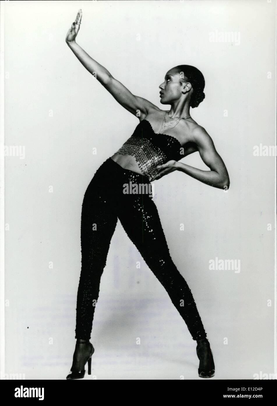 Dic. 19, 2011 - un diamante nero sul Disco-Ski: Amii Stewart ''gorgogliamento di zucchero di canna''..Questo Rasant e Sucessful musical dal Immagini Stock
