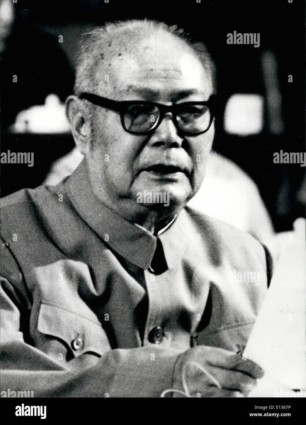 Febbraio 28, 2012 - Yeh Chien-Ying. Vice Presidente del Partito comunista cinese. Immagini Stock