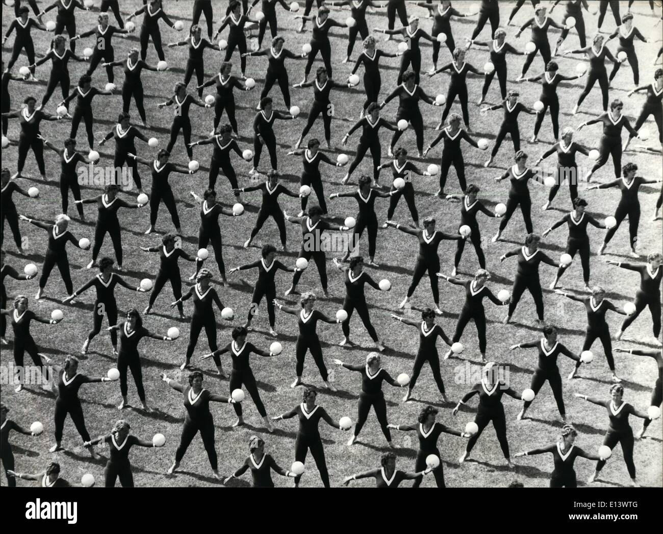 27 mar 2012 - Cerimonia di chiusura delle donne atletica. Affascinanti immagini alla fine delle donne atletica in inverno th~r (Zurigo), Svizzera: dopo 4 giorni di grande successo per competizioni atletiche di 20.000 donne prendono parte e mostrano il loro esercizi. Immagini Stock