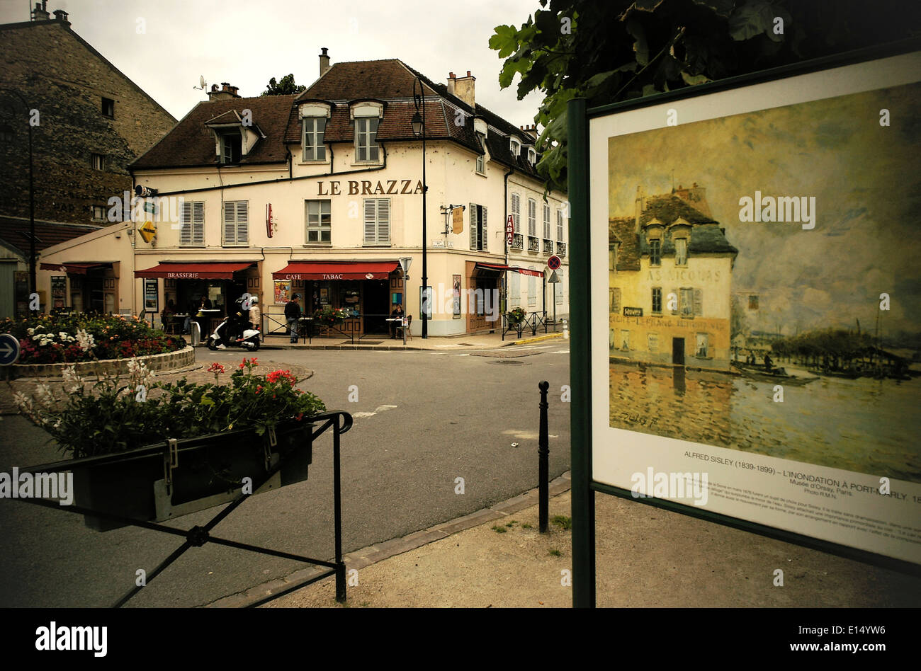 French impressionist painting immagini french impressionist painting fotos stock alamy - Le soleil levant port marly ...