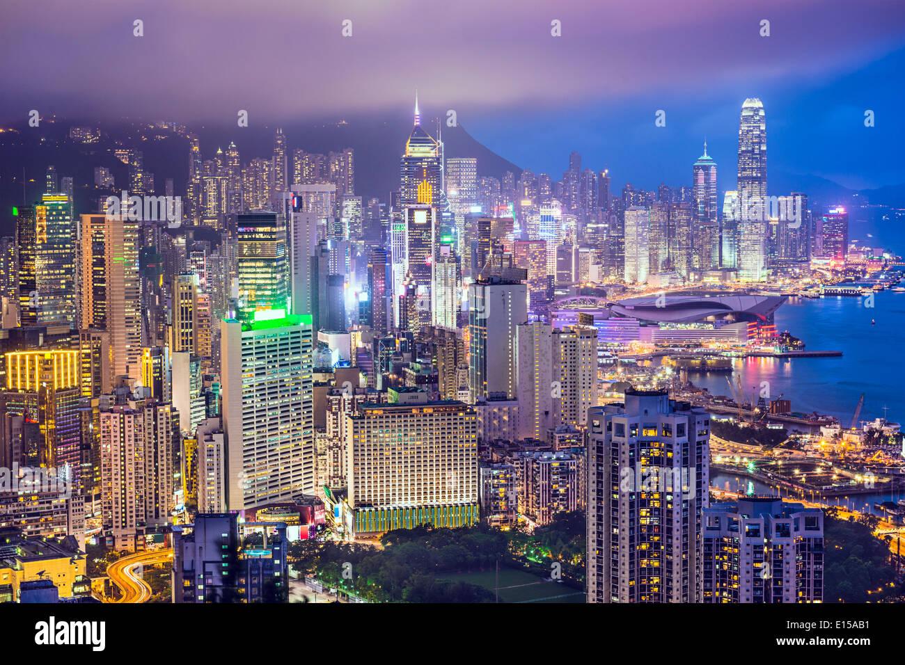 Hong Kong Cina skyline della città Immagini Stock