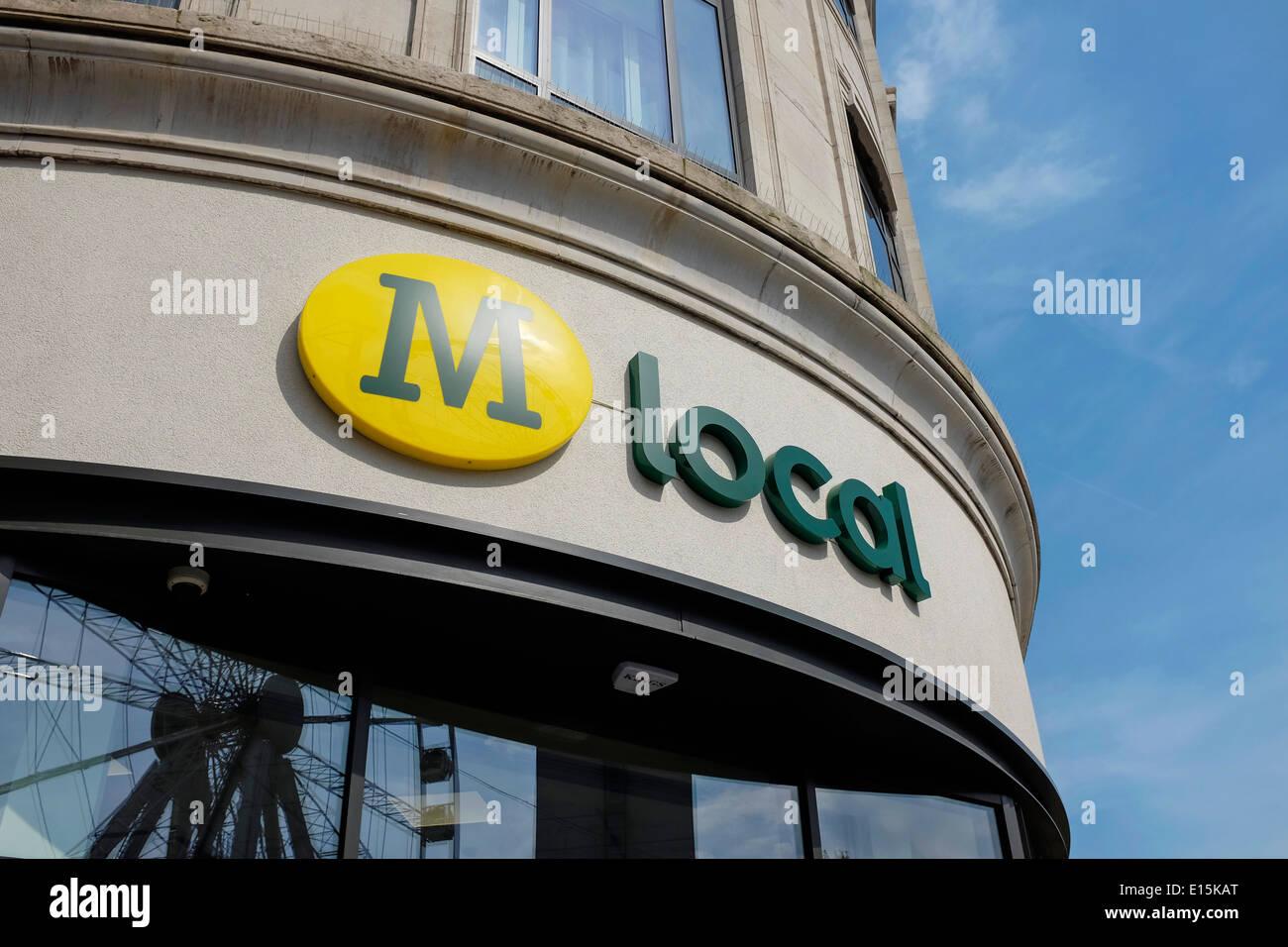 Morrisons M Local store accedi Manchester Piccadilly Gardens Regno Unito Immagini Stock