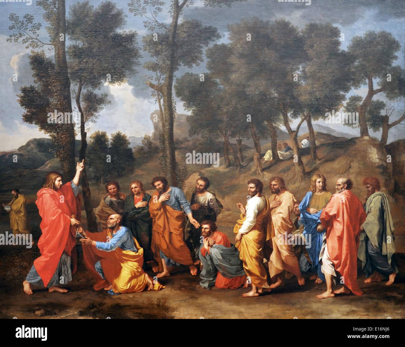 I sette sacramenti - Ordinazione da Nicolas Poussin, 1636-40 Immagini Stock