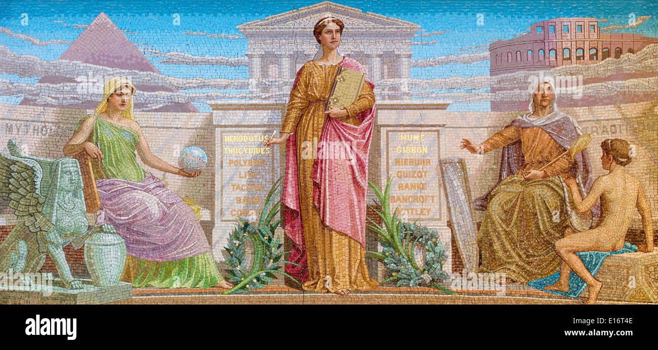 Mosaico di storia da Federico Dielman, 1896 Immagini Stock