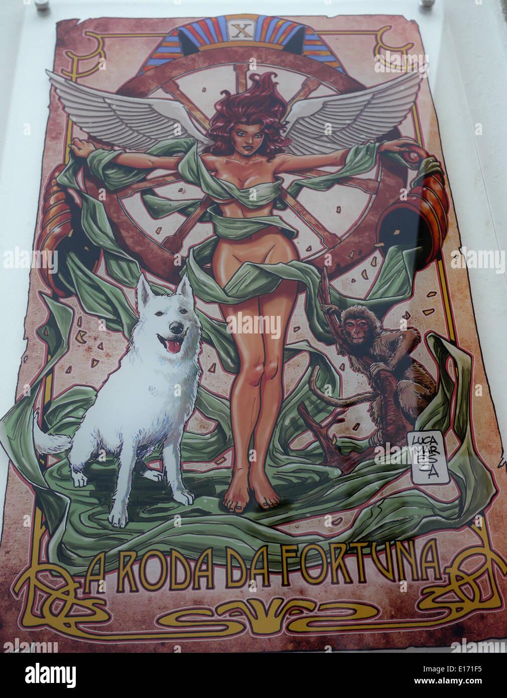 Il Portogallo, Evora arte religiosa moderna Maria Immagini Stock