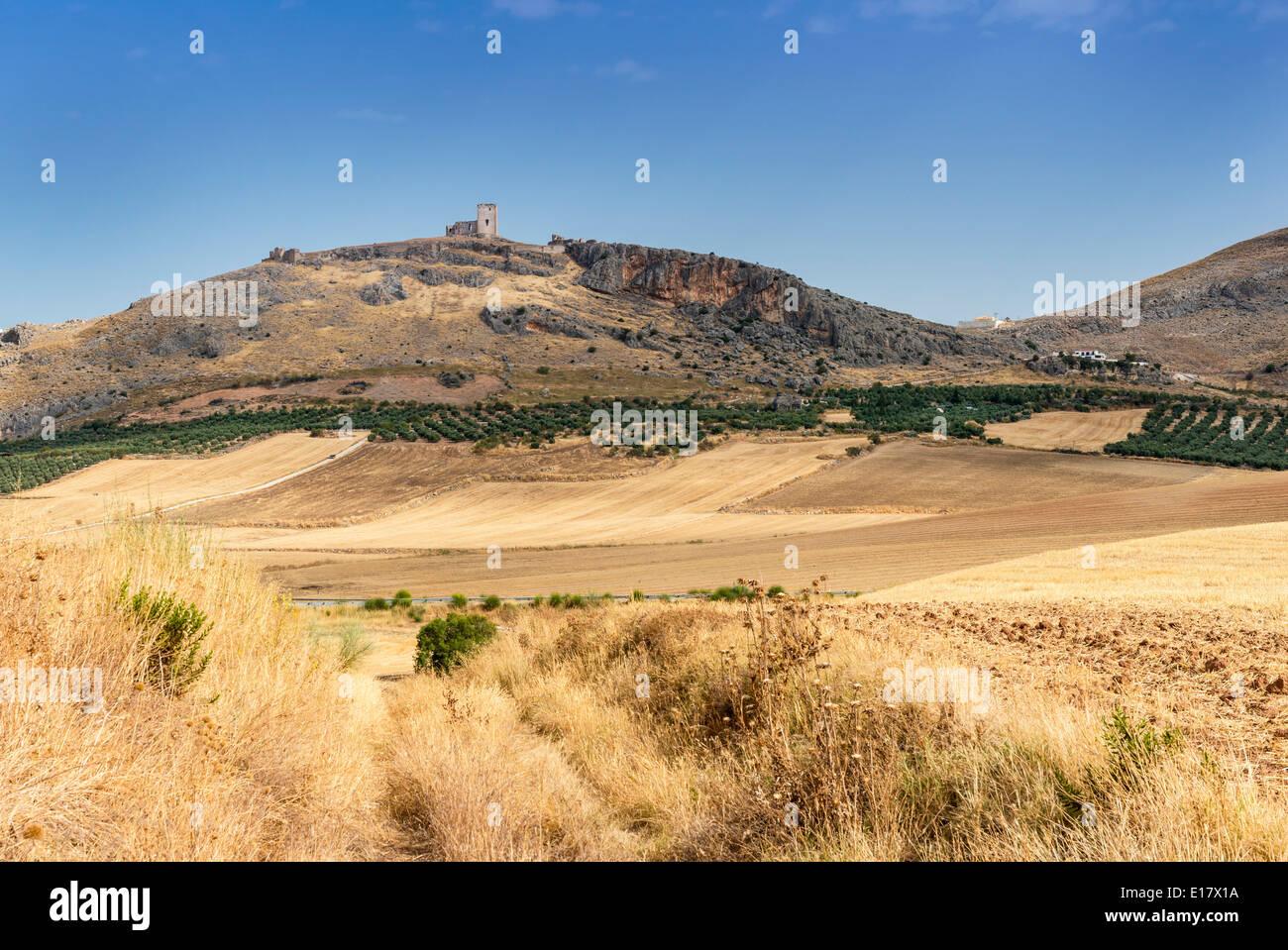 Il castello di Teba Provincia di Malaga Andalusia Spagna Immagini Stock
