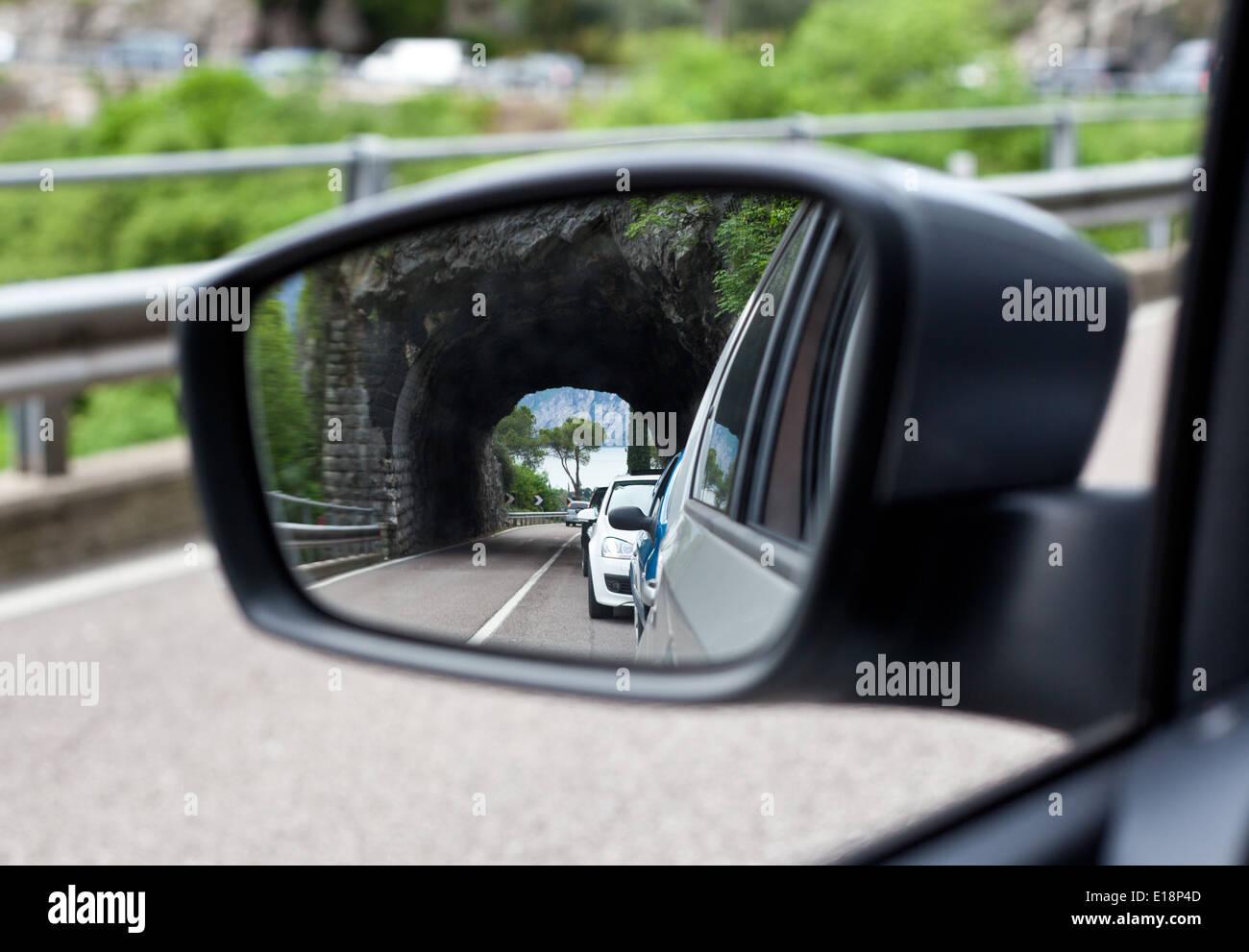 Vetture di specchietto retrovisore Immagini Stock