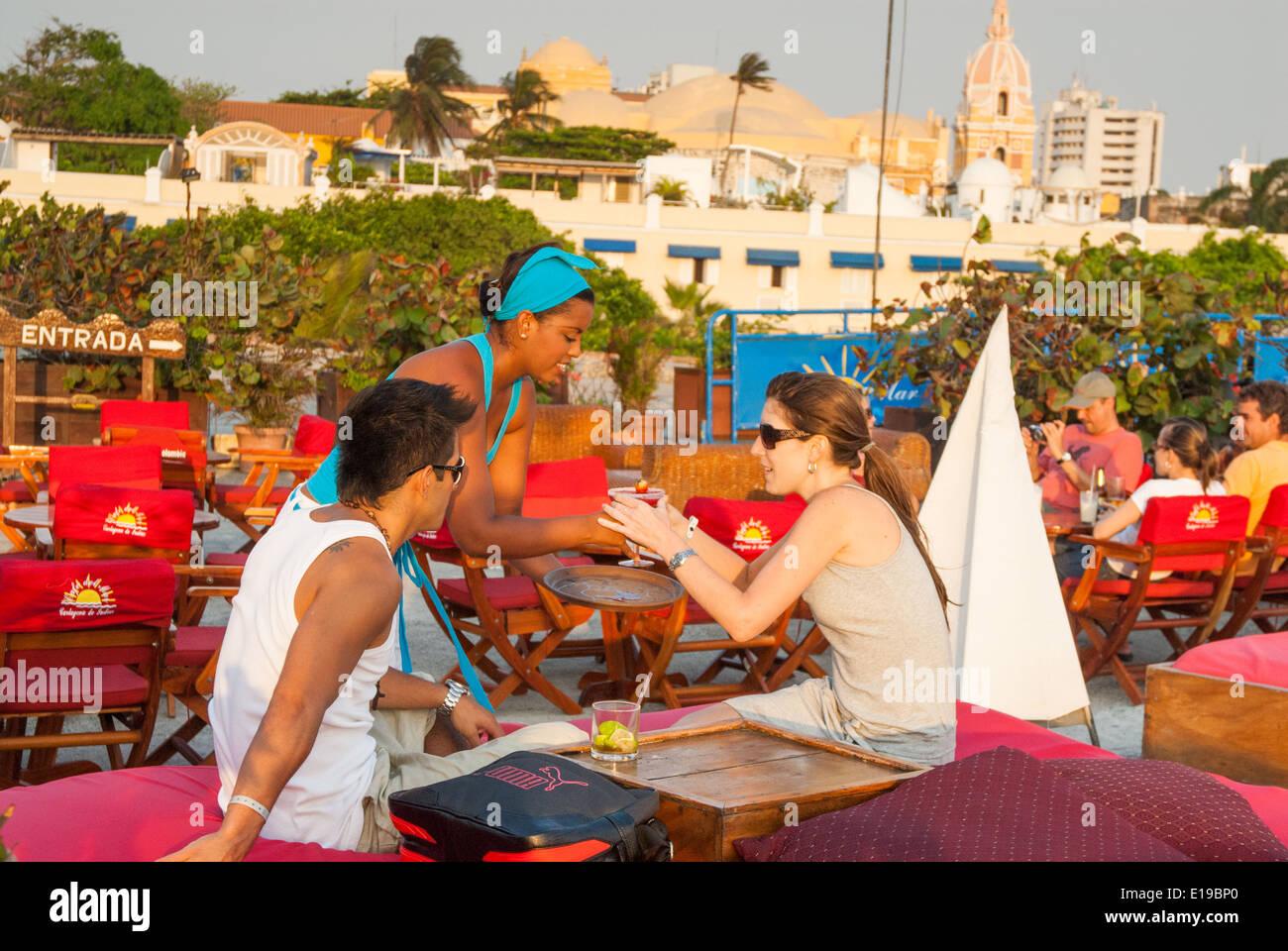 Cafe del mar, Cartagena de Indias, Colombia Immagini Stock