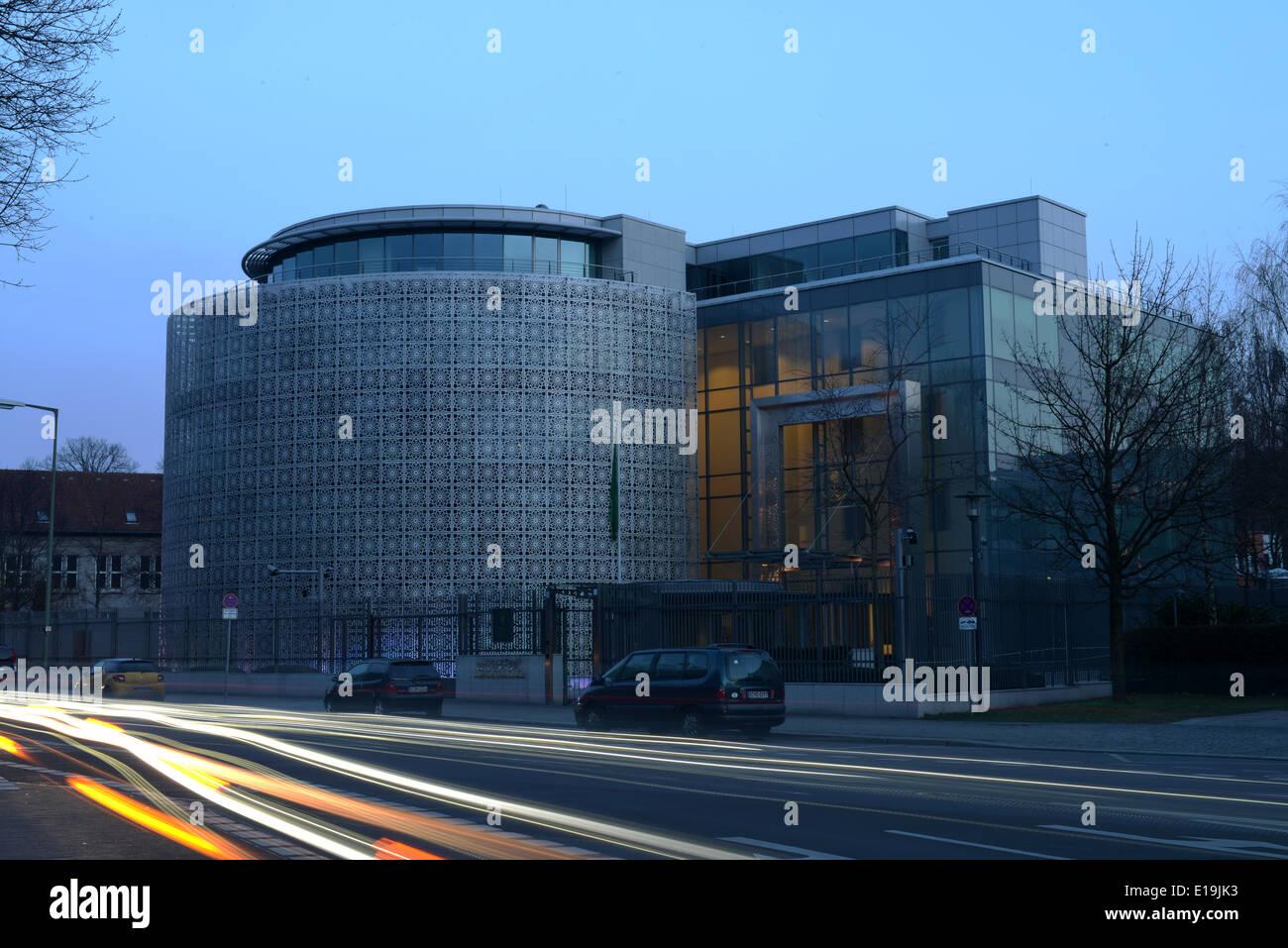 Botschaft Saudi Arabien, Tiergartenstrasse, Tiergarten di Berlino, Deutschland Immagini Stock