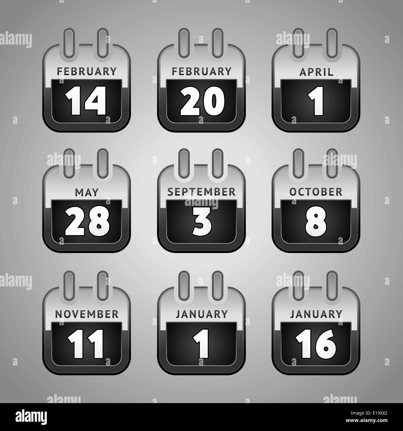 Calendario Per Sito Web.Impostare Il Calendario Web Icone Internet Sito Web