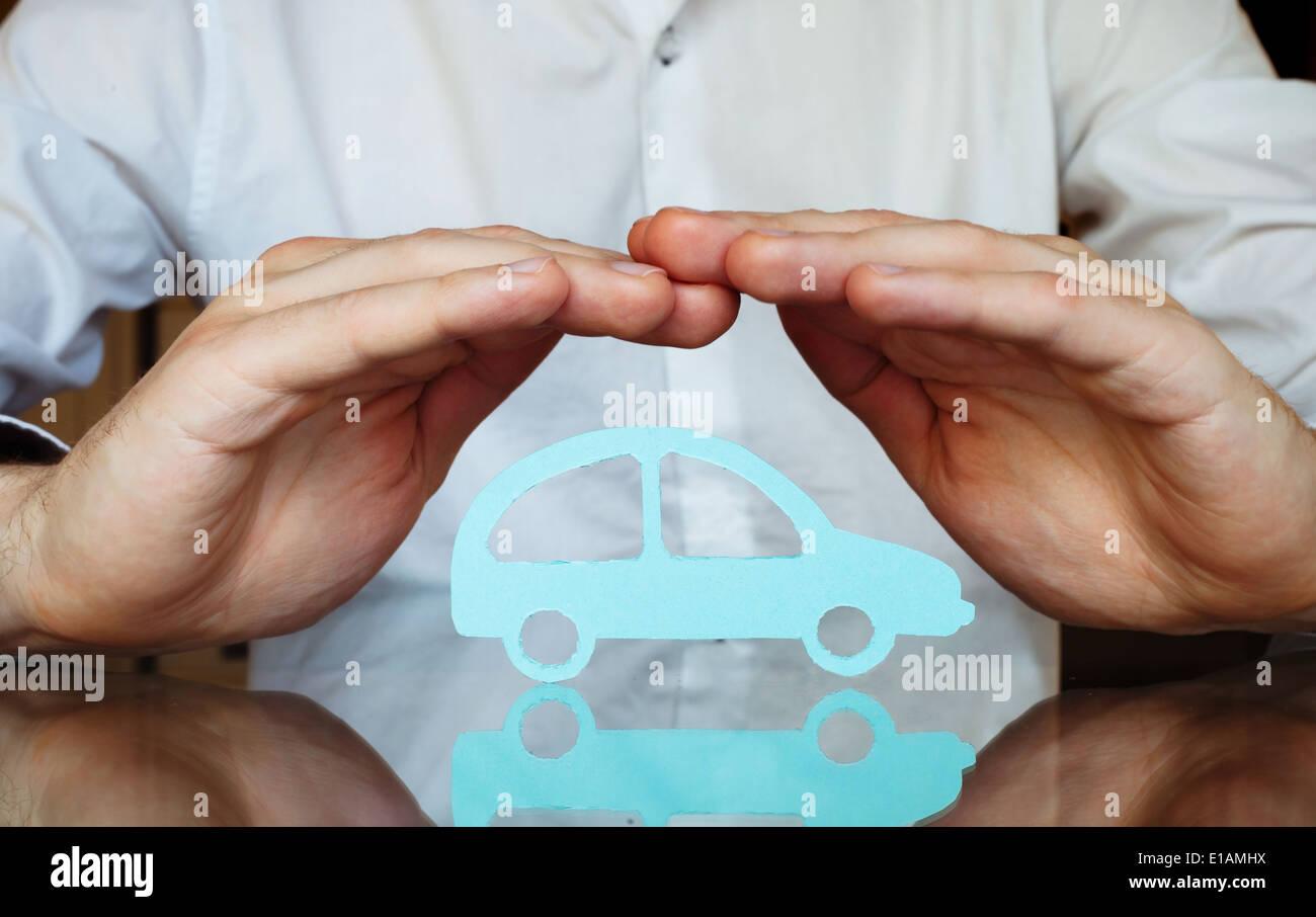 Assicurazione auto concept Immagini Stock