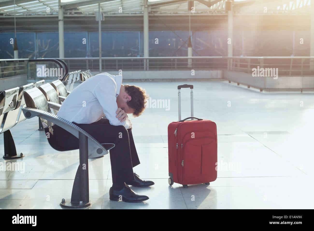 ritardo del volo Immagini Stock