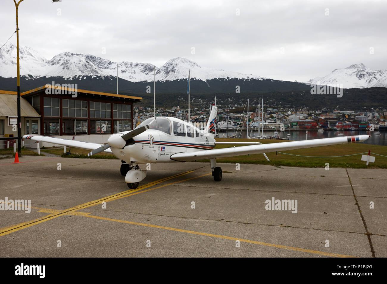 Lv-00d piper pa28-181 archer aeromobili leggeri aeroclub Ushuaia Argentina Foto Stock