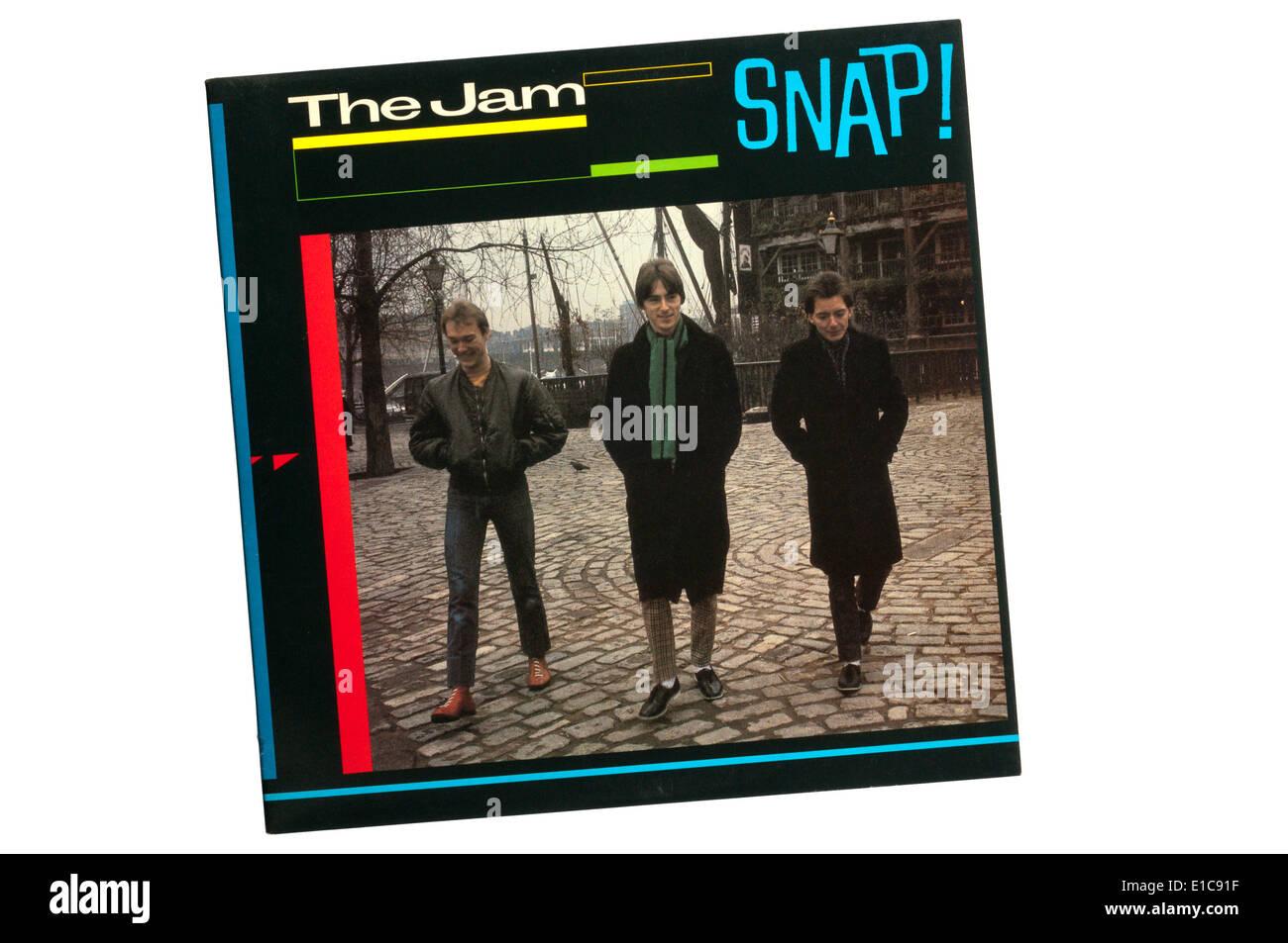 Snap! È un greatest hits doppio album per la marmellata, rilasciato nel 1983, un anno dopo il gruppo si è sciolto. Immagini Stock