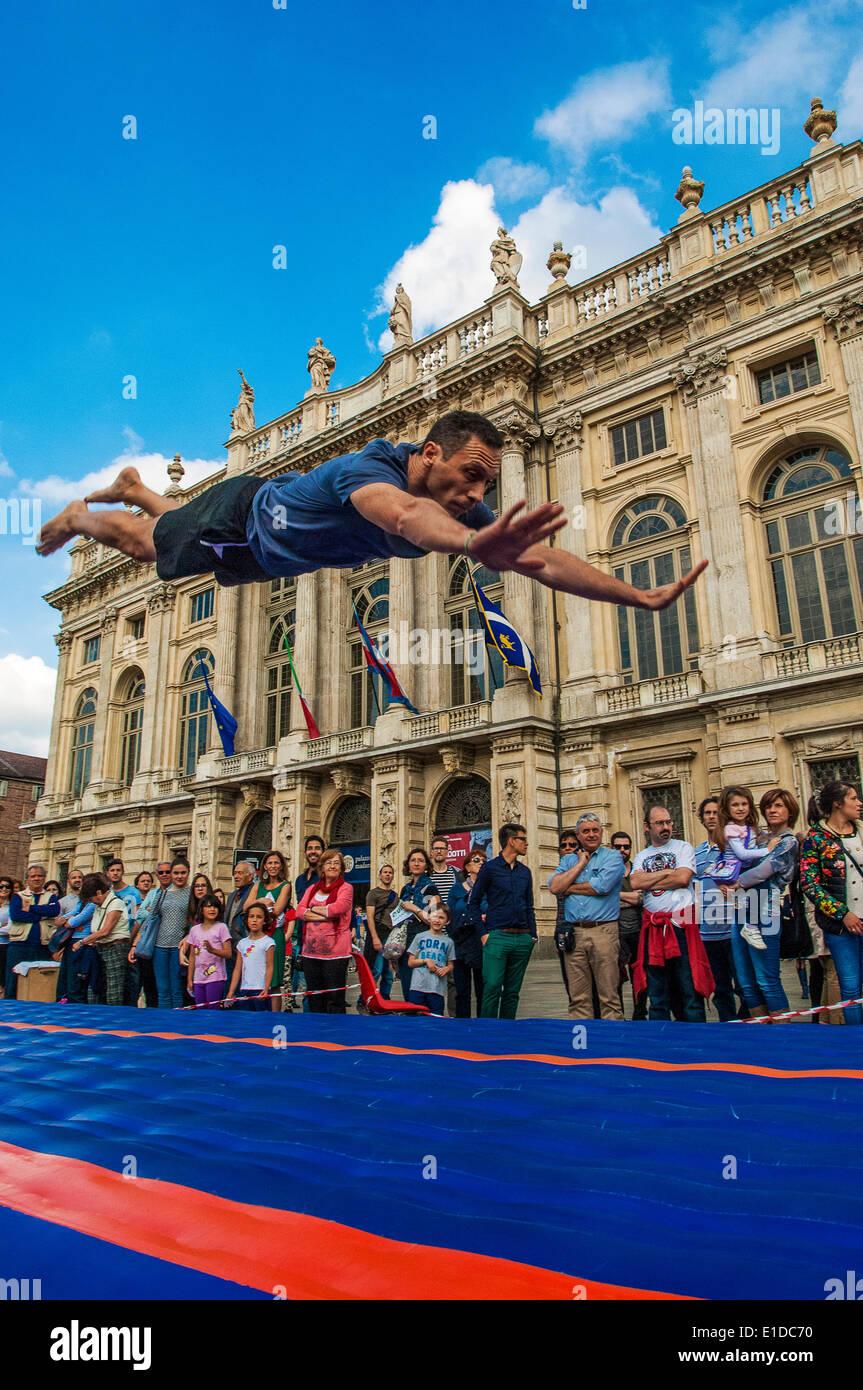 """Torino, Italia. 31 Maggio, 2014. La manifestazione """"sport entra nella piazza di Torino"""". Torino è stata scelta come Foto Stock"""