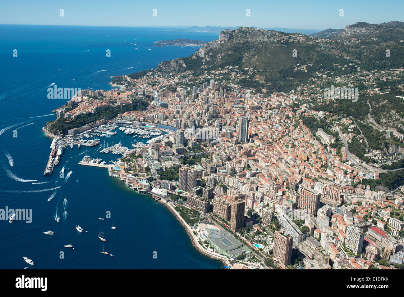 Principato di Monaco (vista aerea). Immagini Stock