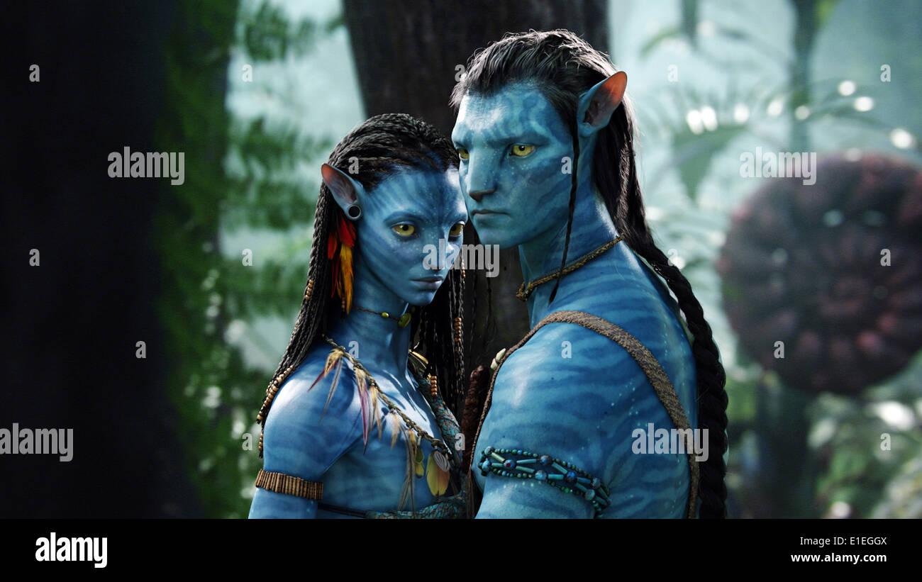 AVATAR (2009) Zoe Saldana Sam Worthington James Cameron (DIR) RACCOLTA MOVIESTORE LTD Immagini Stock