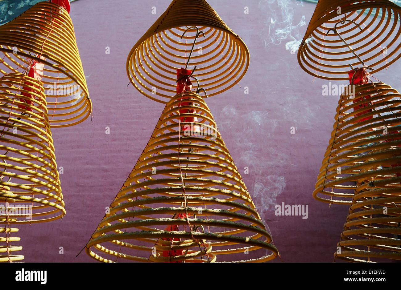 Cina, Macao, un tempio ma Immagini Stock