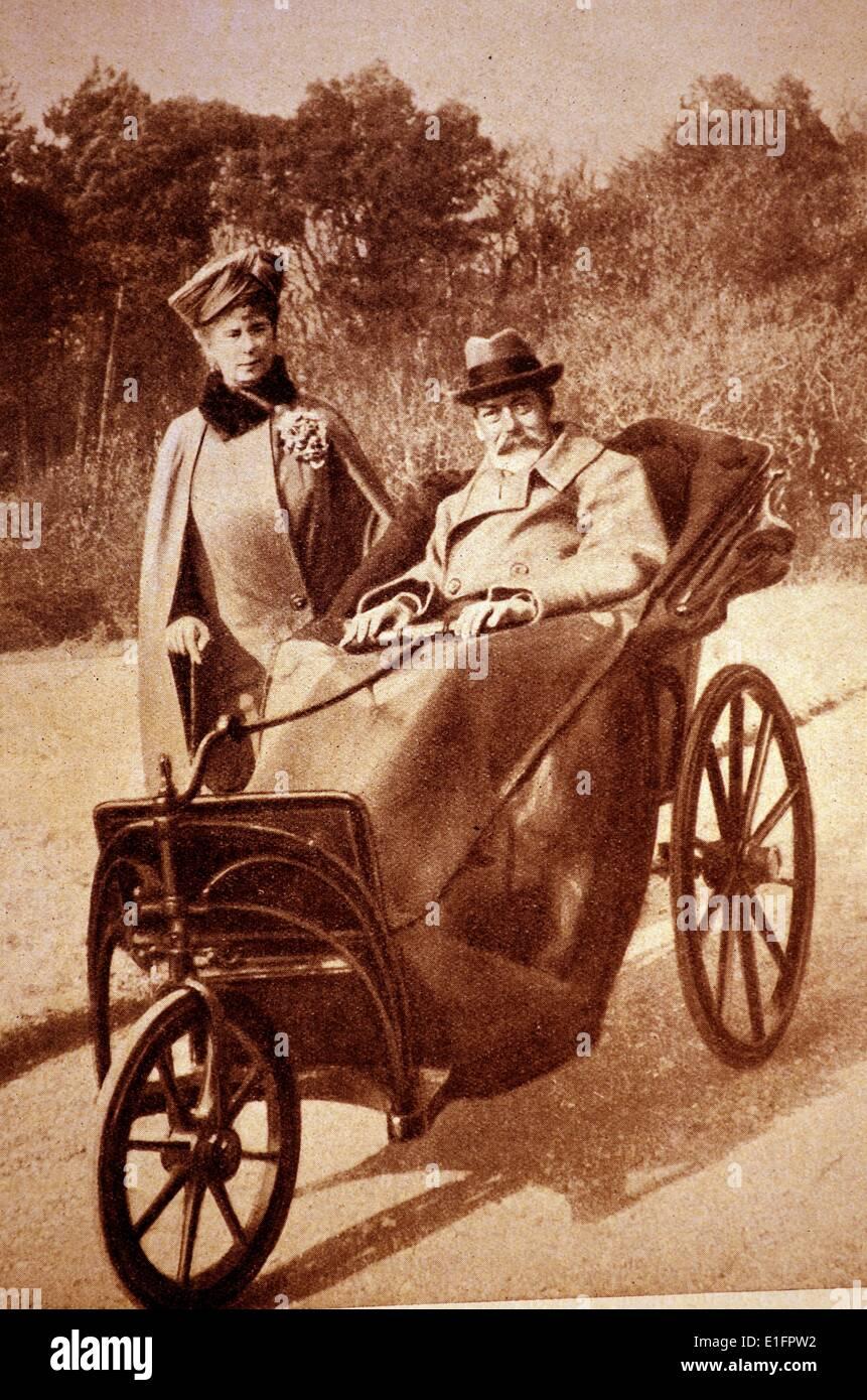 Re Giorgio V e la regina Mary Immagini Stock