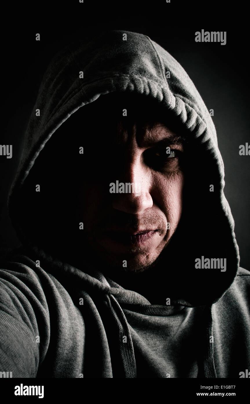 Uomo violento Immagini Stock