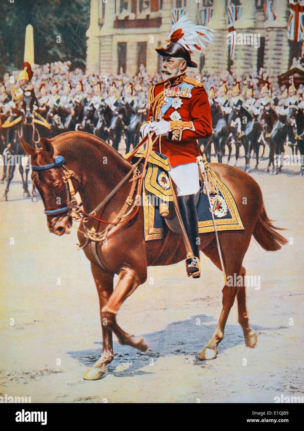 George V (George Frederick Ernest Albert; 3 Giugno 1865 - 20 gennaio 1936) era il re del Regno Unito e del British Immagini Stock