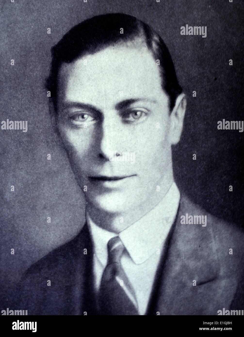 George VI (Albert Frederick Arthur George; 14 Dicembre 1895 - 6 febbraio 1952) era il re del Regno Unito e i domini Immagini Stock