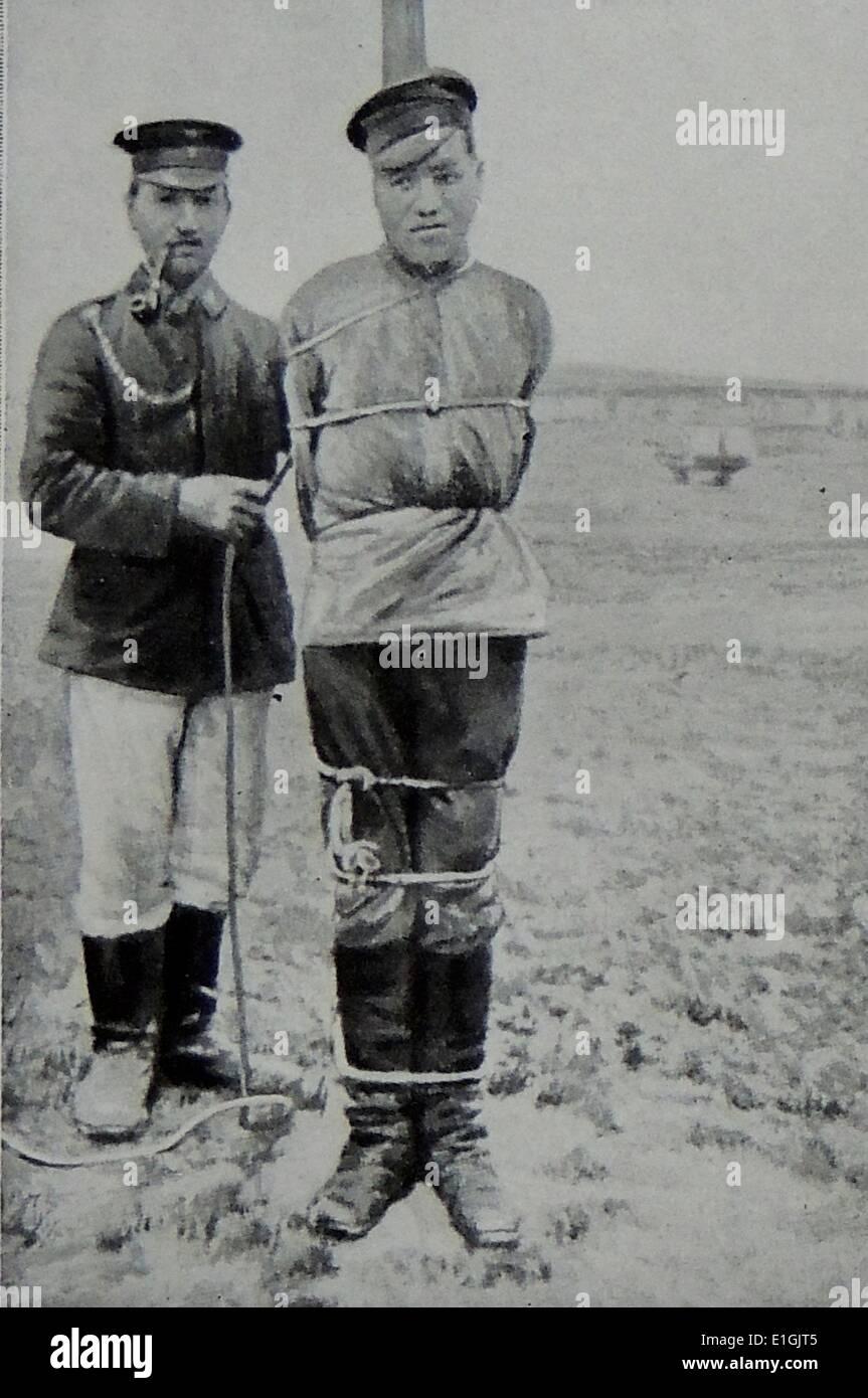 Soldato russo preparata per l'esecuzione dopo la diserzione nella Prima Guerra Mondiale Foto Stock