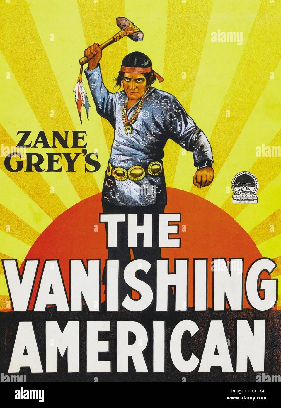 """""""L'Americano di fuga di un film muto western starring Richard Dix. Immagini Stock"""