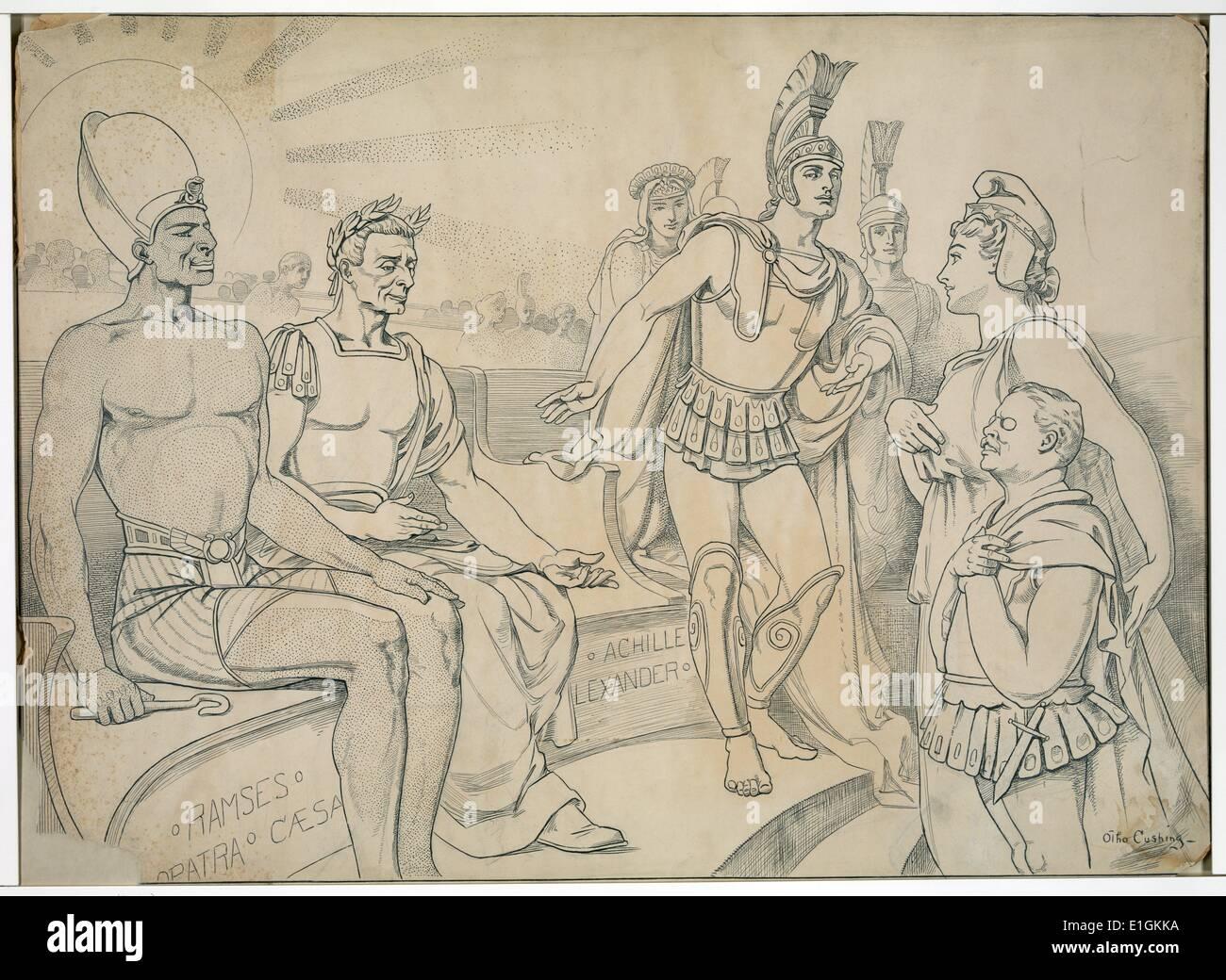 Pallas Columbia richieste per lui un posto nella storia di Otho Cushing Immagini Stock
