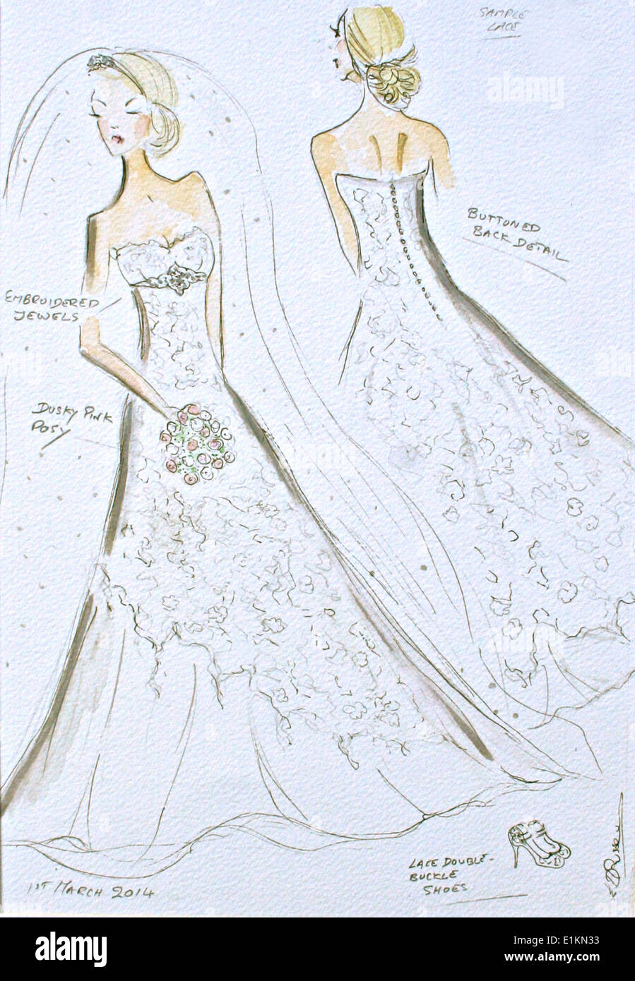 Sposa in un abito da sposa Foto Stock